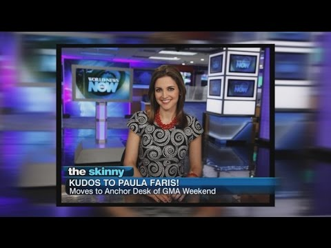 "SKINNY: Paula Faris Moves to ""Good Morning America Weekend"""