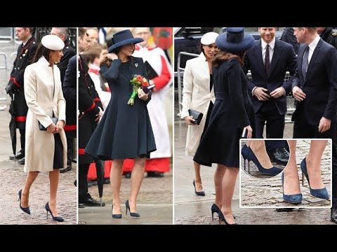 Did Meghan Markle and Kate Middleton wear the same shoes?