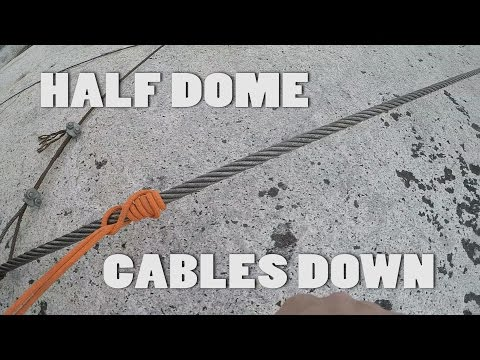 Hiking Half Dome - cables down (April 2017)