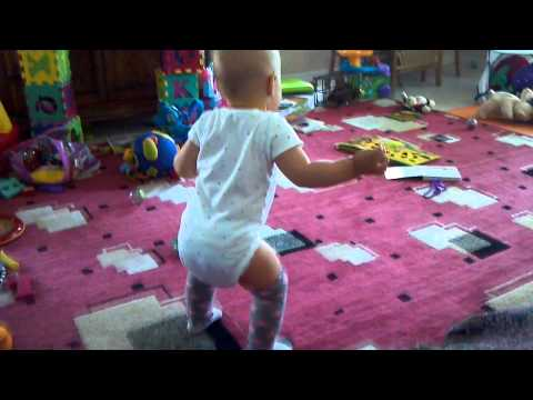 Baby trying to walk