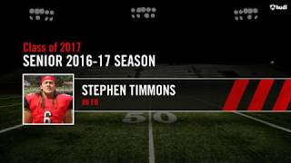 Stephen Timmons Senior 2016 17 Season   High School Sports Video