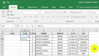 Automatically Insert Serial Number in Excel - 3 way  [ HINDI / URDU ]
