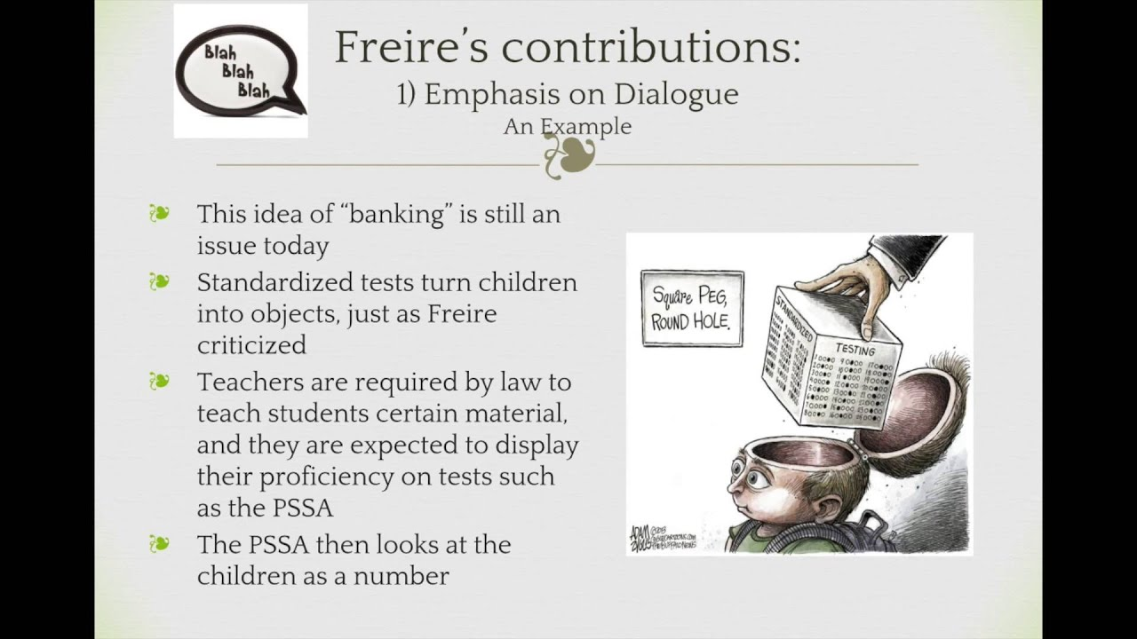 paulo freires critique of the banking teaching method Foreshadow of a future 'method' of literacy training during the world economic crisis of 1928-32, the freires tried to uphold the standards of middle-class life, but their mother had at times great difficulty in providing for the family.