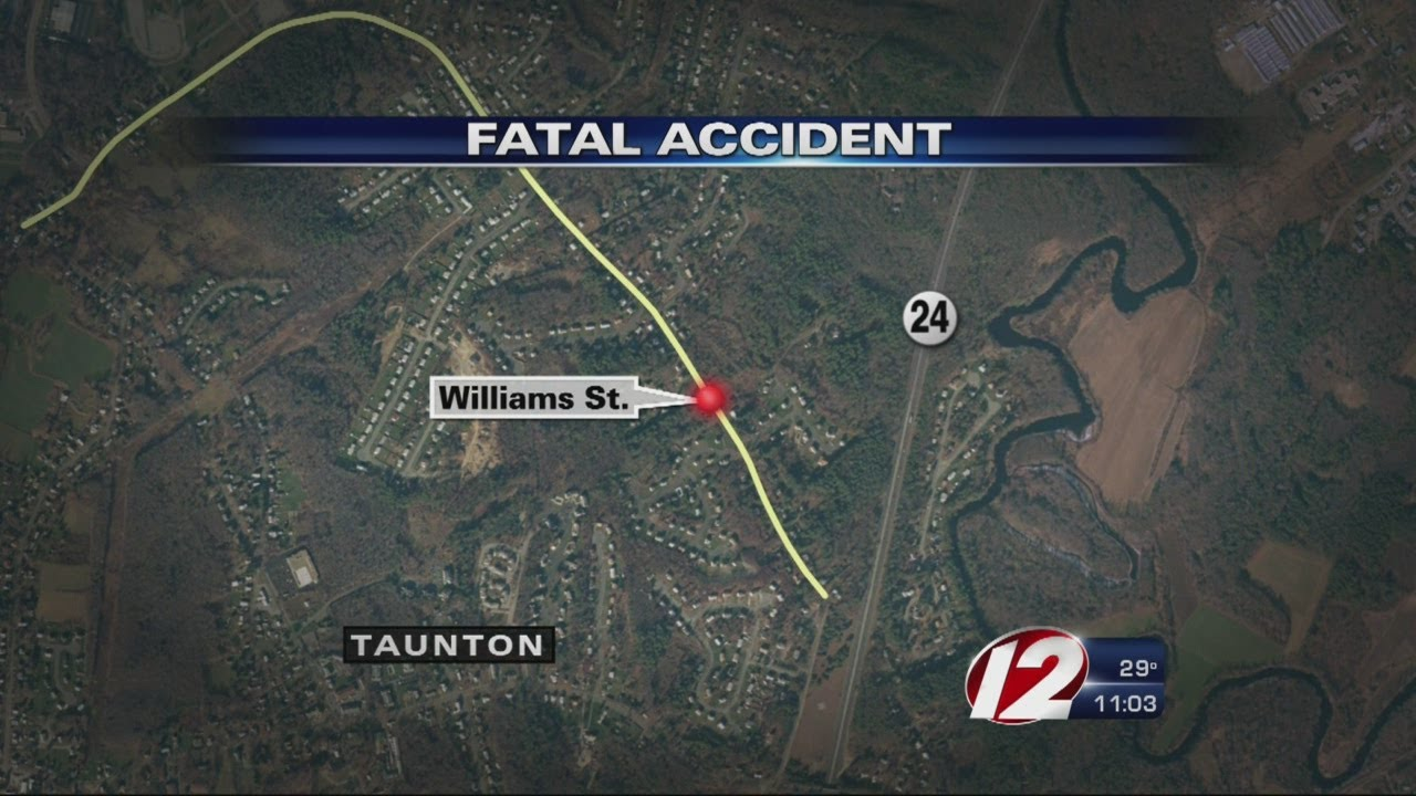 Police respond to a single car crash on Williams Street in Taunton