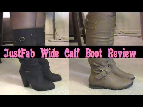 A Review of JustFab's Wide Calf Boots - Fall 2013 - YouTube