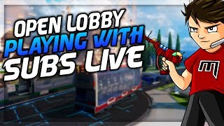 OPEN LOBBY PLAYING WITH SUBS LIVE! (INTERACTIVE STREAMER) thumbnail