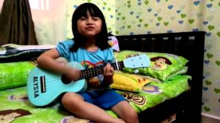 Hujung Waktu Azhael ukulele cover Aryanna Alyssa