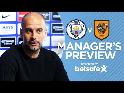 PEP READY FOR THE TIGERS | Man City v Hull | Guardiola Press Conference