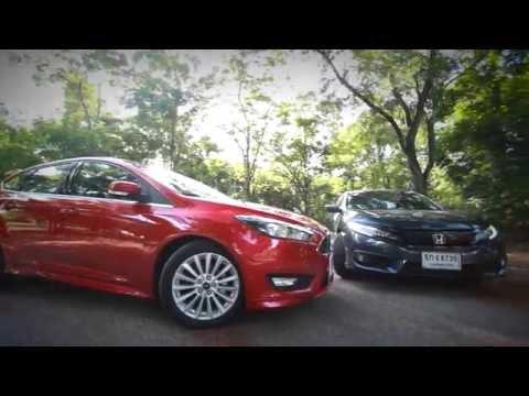 2016 Honda Civic Turbo RS vs 2016 Ford Focus EcoBoost อัดอากาศเพิ่มกำลัง รถนั่งรุ่นท็อป!!!