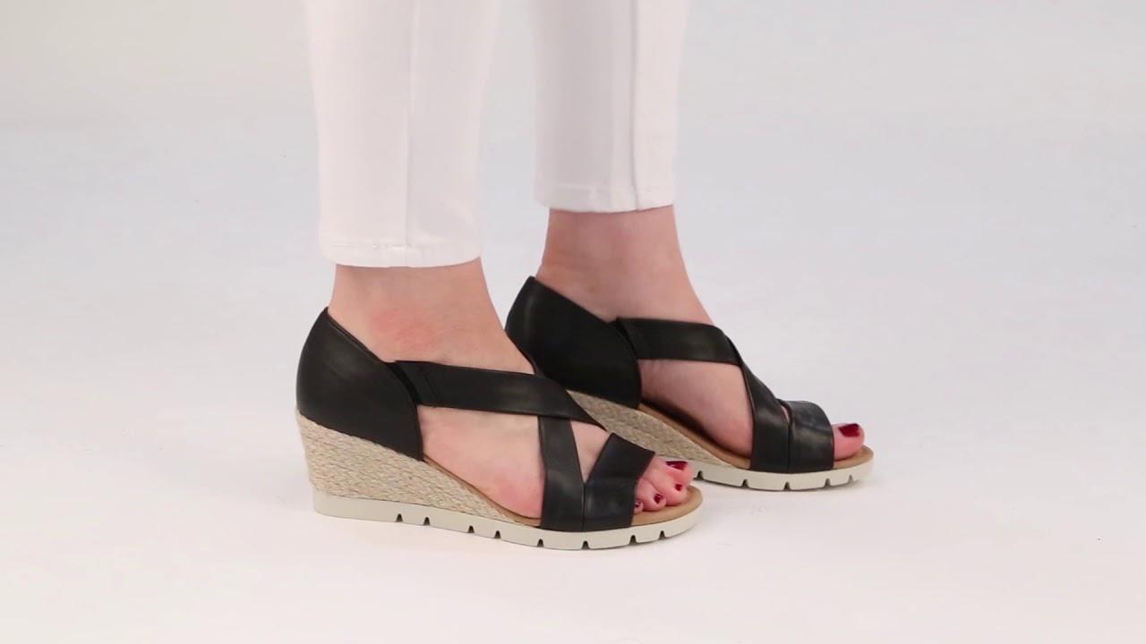 e24a1f92a729 Gabor Lisette Black Womens Sandals - YouTube