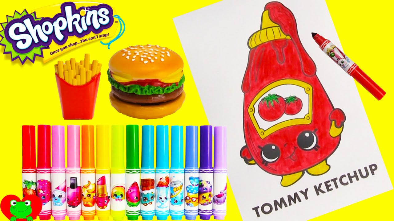 Shopkins coloring page tommy ketchup with season 6 and happy places