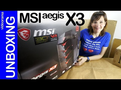 MSI Aegis X3 VR unboxing en español   4K UHD