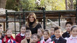 Smiling Panda Photobombs Melania Trump During China Visit