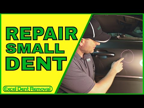 How To Repair Small Dent in Car Door