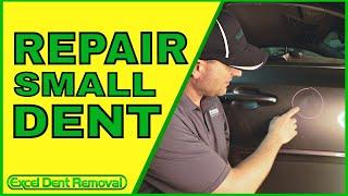 How To Repair Small Dent in Car Door