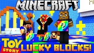 Minecraft RAINBOW Toy Story Lucky Block w/ PrestonPlayz, Vikkstar and Woofless | JeromeASF