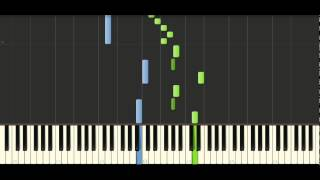 Bach - Prelude in A minor BWV942 - Piano Tutorial - Synthesia
