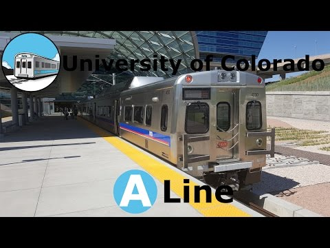 The Train to the Plane - RTD University of Colorado A Line - DIA to DUS