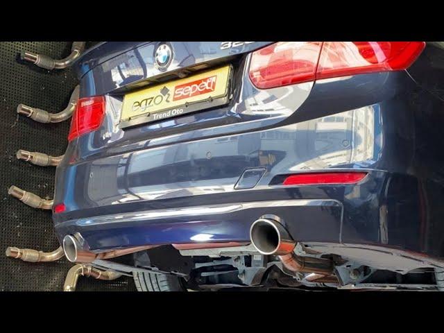 BMW F30 3.20 SAĞ VE SOL TAMPON KESİMİ İLE 3.35 DÖNÜŞÜM VE KUMANDALI EGZOZ SESİ