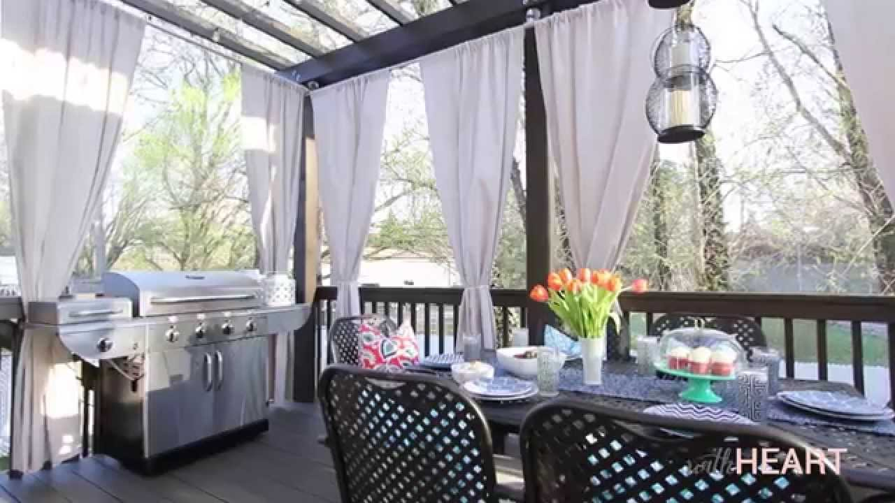 Outdoor curtain for patio - Diy Galvanized Pipe Rods Drop Cloth Drapes Withheart Youtube