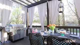 DIY Galvanized Pipe Rods & Drop Cloth Drapes | withHEART