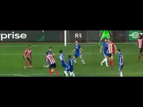 Thibaut Courtois amazing save vs Van Anholt 14/12/2016