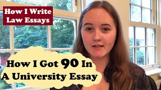 How I Got 90 In a Uni Essay- How I Write Law Essays at University- The University of York