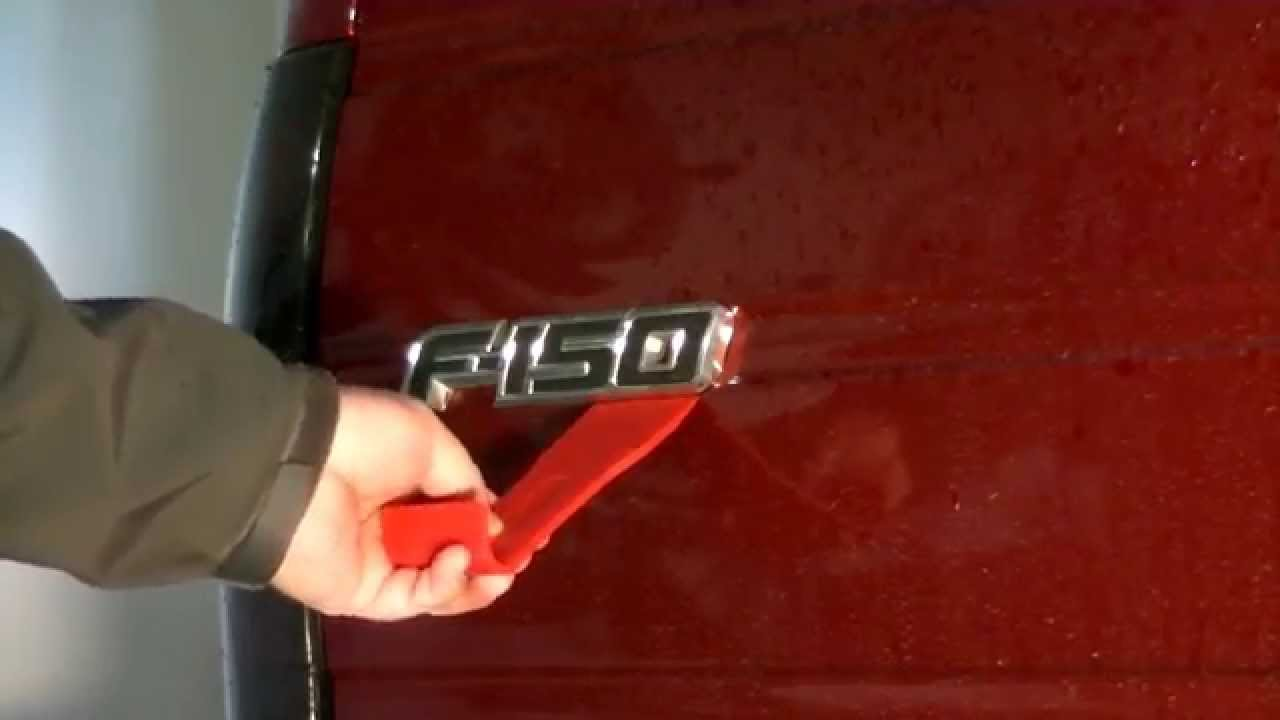 Removing Car  U0026 Truck Emblems  Example