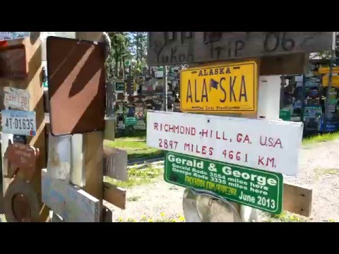 Directions to our sign in the Sign post forest Watson lake Yukon