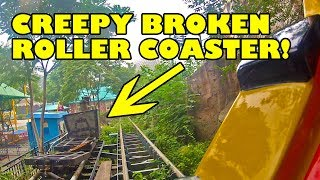 Crappy Dilapidated Roller Coaster Mine Train In China! Beijing Shijingshan Amusement Park