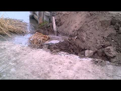 Salt Pond Restoration Project - Levee Breach 10/31/12