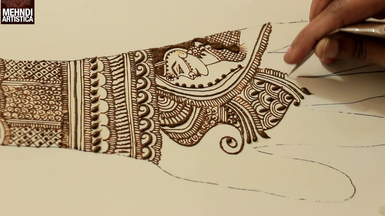 Mehndi design 2017 for bride - Learn Intricate Side Face Dulhan Mehendi Bridal Mehndi Design Tutorial Step By Step 2017 Wedding