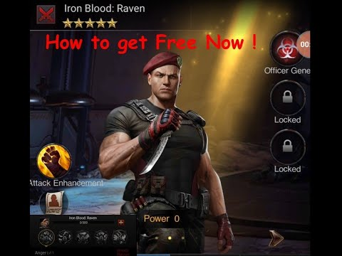 How To Get Unlock / Free Officer Raven Iron Blood In Last Empire War Z