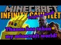 THANOS USED HIS TIME STONE TO FROST MY MINECRAFT WORLD HELP!! || ENDGAME IS HERE