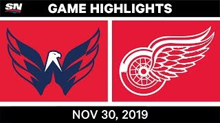 washington Capitals vs Detroit Red Wings  Nov.30, 2019  Game Highlights  NHL 2019/20  Обзор