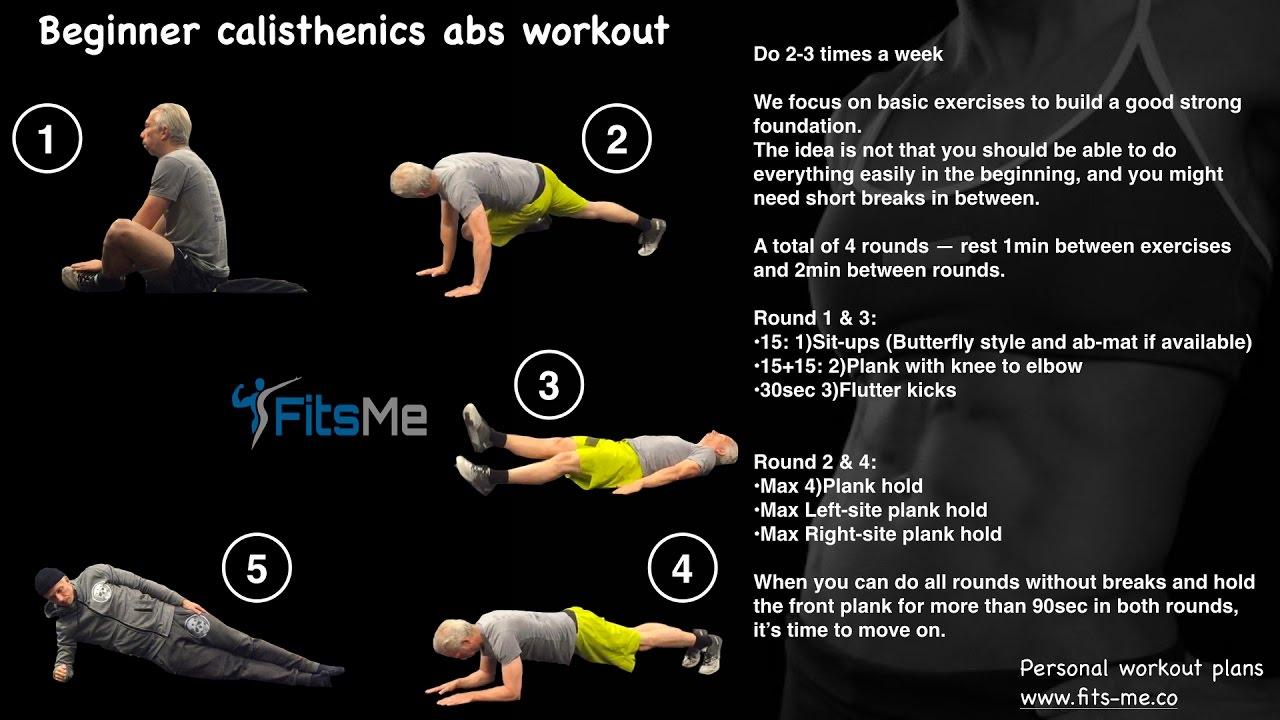 Calisthenics Abs workout - Beginner/Intermediate/Advanced