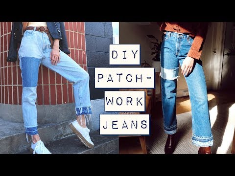 HOW-TO Patchwork Jeans ➾ Extend Your Jeans Life! Recycle & Repair