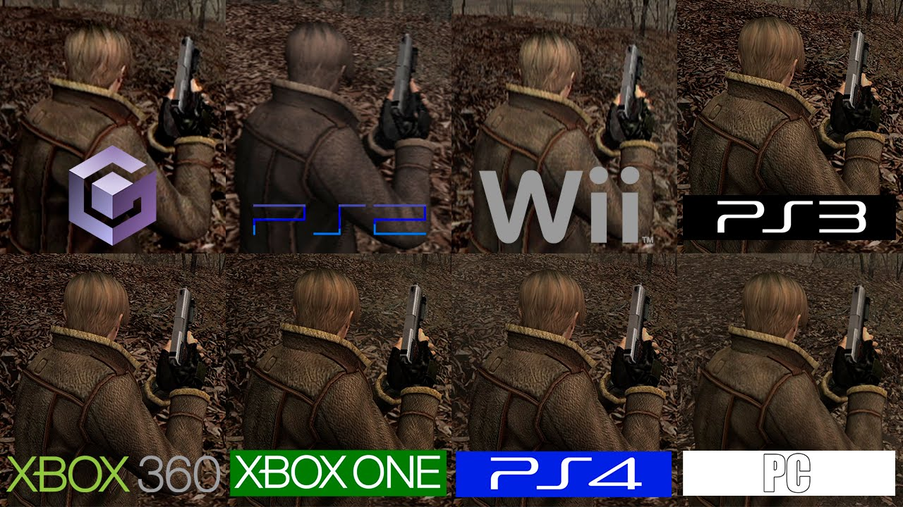 Resident Evil 4 Gc Vs Ps2 Vs Wii Vs Ps3 Vs Ps4 Vs 360 Vs One Vs