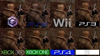 Resident Evil 4 | GC VS PS2 VS Wii VS PS3 VS PS4 VS 360 VS ONE VS PC | All Versions Comparison