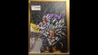 Speed Drawing - Goku ssj5 e vegeta ssj5 [DRAGON BALL AF]
