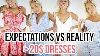 EXPECTATIONS VS REALITY I UNDER 20$ DRESSES (ZAFUL)