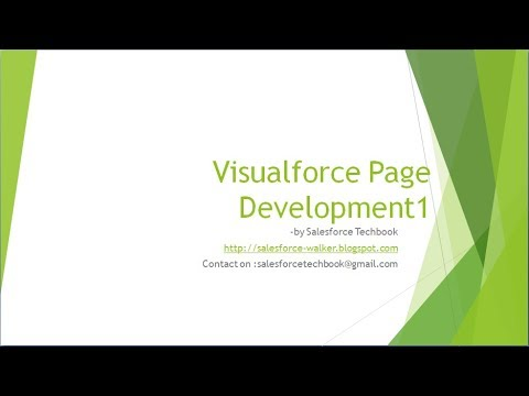 Visualforce Page Development-1(Basics & Different Controllers)