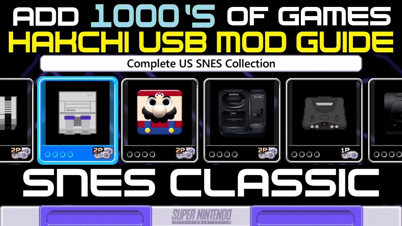 SNES Hakchi USB Flash Drive GUIDE add 1000's of games now !!