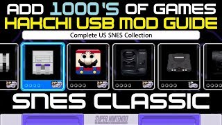 SNES Hakchi USB Flash Drive GUIDE add 1000
