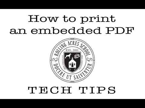 How To Print Embedded PDF