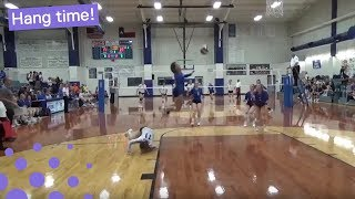 GIRL MAKES AMAZING VOLLEYBALL SAVE
