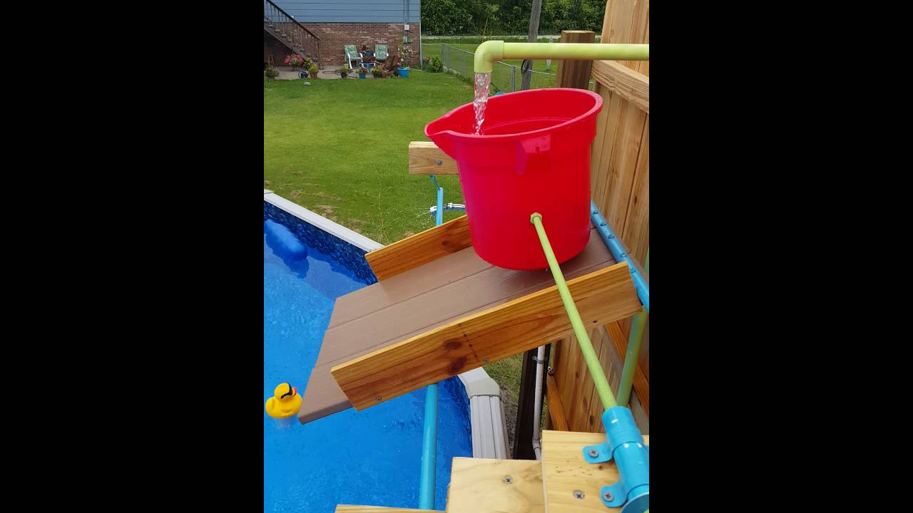 Self Tipping Swimming Pool Bucket Youtube