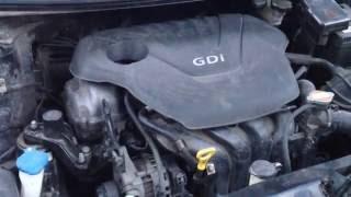 Hyundai Avante работа двигателя (дизельный звук)