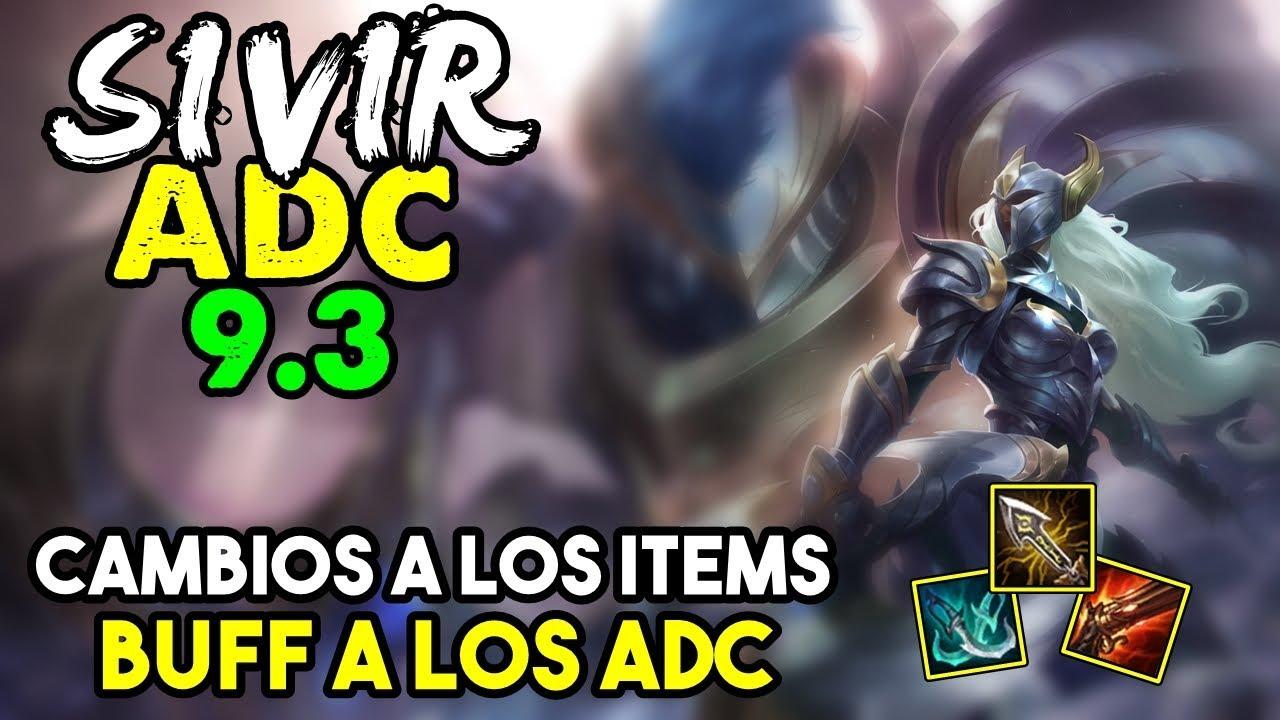 especificar mejilla Tantos  SIVIR ADC S9 | CAMBIOS A LOS ITEMS = BUFF | Runas Objetos(Build) 9.3  Gameplay Español NO GUIA - YouTube