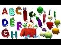 Aprenda ABC com legumes e frutas | Canção de ABC Phonics | Vídeos 3D para crianças por hora do bebê